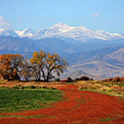 Boulder County Colorado Landscape Red Road Autumn View Poster