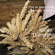 Bounty. Thanksgiving Greeting Card Poster