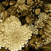 Bouquet In Sepia Poster