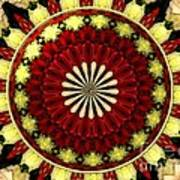 Bouquet Of Roses Kaleidoscope 5 Poster