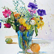 Bouquet Study With Anemones Poster