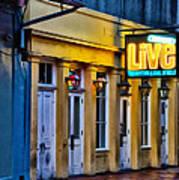 Bourbon Live - French Quarter Poster