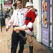 Bourbon Street In Daylight - Santa's Helper Poster
