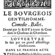 Bourgeois Gentilhomme Poster