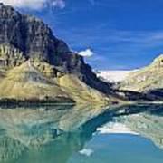 Bow Lake,alberta,canada Poster