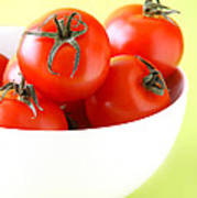 Bowl Of Tomatoes Poster by HD Connelly