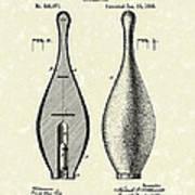 Bowling Pin 1895 Patent Art Poster