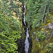 Box Canyon With Flowing Stream, Mount Poster
