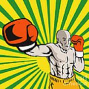 Boxer Boxing Jabbing Front Poster