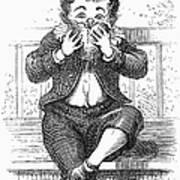 Boy Eating Poster