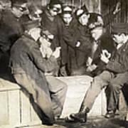 Boys Playing Poker, 1909 Poster