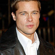 Brad Pitt At The Premiere Of Oceans Poster
