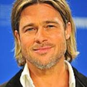 Brad Pitt At The Press Conference Poster by Everett