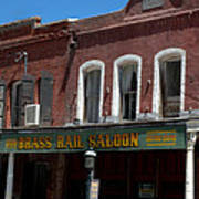 Brass Rail Saloon Poster