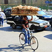 Bread On A Bicycle Poster
