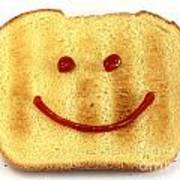 Bread With Happy Face Poster