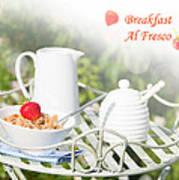 Breakfast Al Fresco Poster by Amanda Elwell