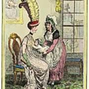 Breastfeeding, 18th-century Caricature Poster