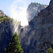 Bridalveil Falls In Yosemite Poster