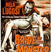 Bride Of The Monster, Bela Lugosi, 1955 Poster