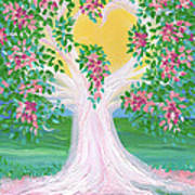 Bride's Tree Pink Poster