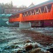 Bridge Across The Ammonoosuc River Poster