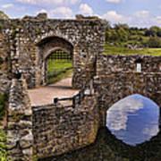 Bridge At Leeds Castle Poster