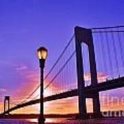Bridge At Sunset 2 Poster