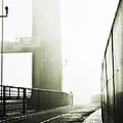 Bridge In Mist Poster