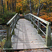 Bridge Into Autumn Poster