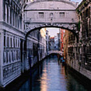 Bridge Of Sighs And Morning Colors In Venice Poster