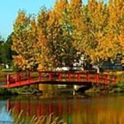 Bridge Over Placid Waters Poster