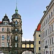 Bridge Over Taschenberg Street Dresden Poster by Christine Till