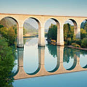 Bridge Over The River Durance In Sisteron, France Poster by Kirill Rudenko