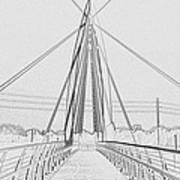 Bridge Sketch Poster by David Alvarez
