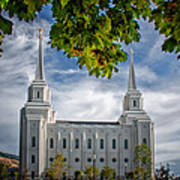 Brigham City Temple Leaves Arch Poster
