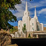 Brigham City Temple Stones Poster