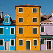 Brightly Painted Houses Of Burano Poster