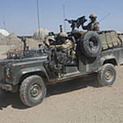 British Soldiers In Their Land Rover Poster