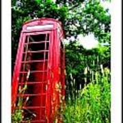 British Telephone Booth In A Field Poster by Kara Ray