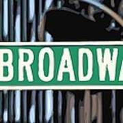 Broadway Sign Color 16 Poster