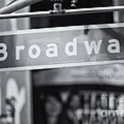 Broadway Street Sign II Poster