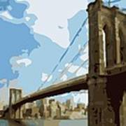 Brooklyn Bridge Color 16 Poster