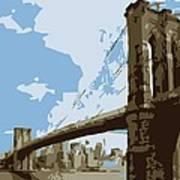 Brooklyn Bridge Color 6 Poster