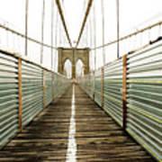 Brooklyn Bridge Poster by Ixefra