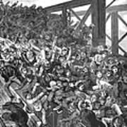 Brooklyn Bridge Panic 1883 Poster