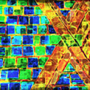 Brooklyn Tile Abstract Poster