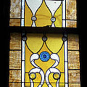 Brown Stained Glass Window Poster