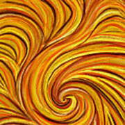Brown Swirl Poster