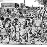 Bruegel: Ice Skaters Poster